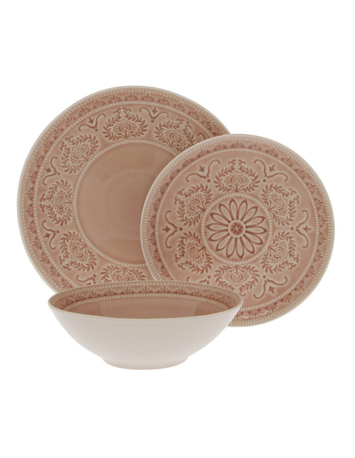 Pink Heliconia 12 Piece Dinner Set