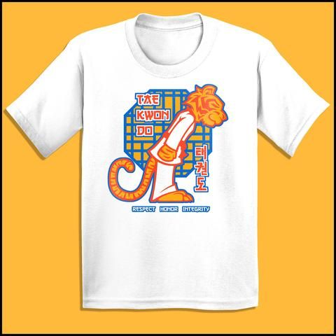 Hello Tiger - Taekwondo Great Gift! T-Shirt -Cutest Tee Ever!  -  YSST451 - Rhino Junction Apparel - 2