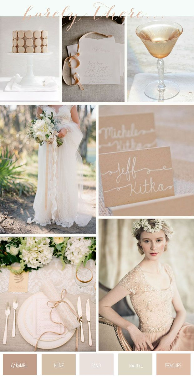 Barely There | Nude, Ivory  Cream Wedding Inspiration - Want That Wedding