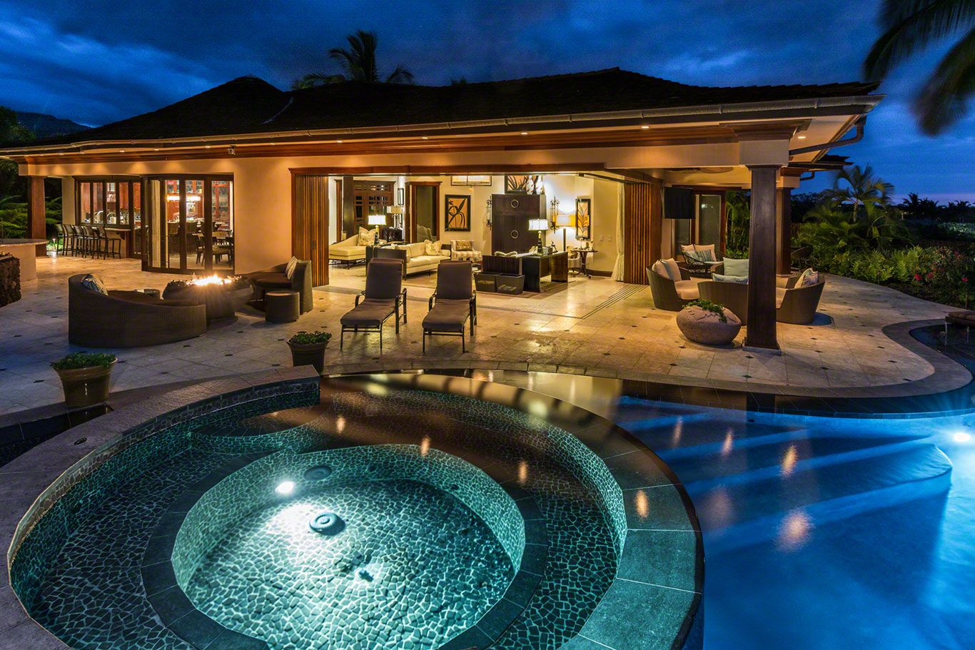 This magnificent island inspired custom home features for Luxury home descriptions