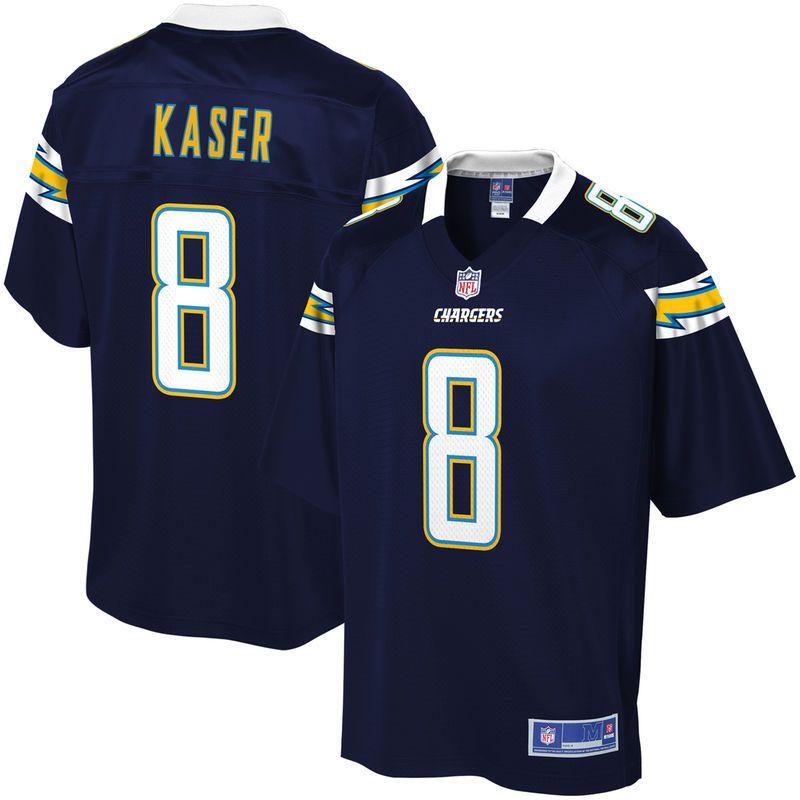 2a6daf4d31c Drew Kaser Los Angeles Chargers NFL Pro Line Team Color Player Jersey – Navy