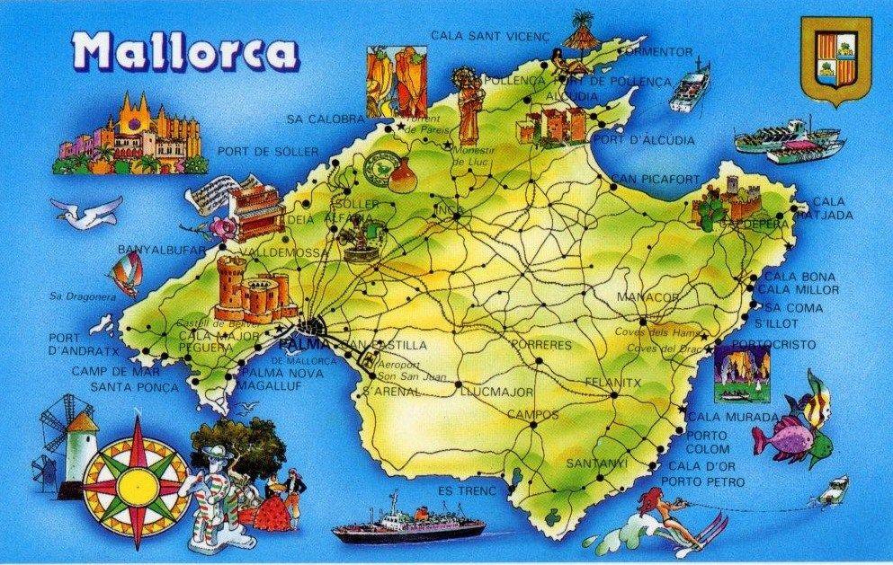 Mapa De Mallorca Palma De Mallorca Vacaciones En Mallorca Mallorca