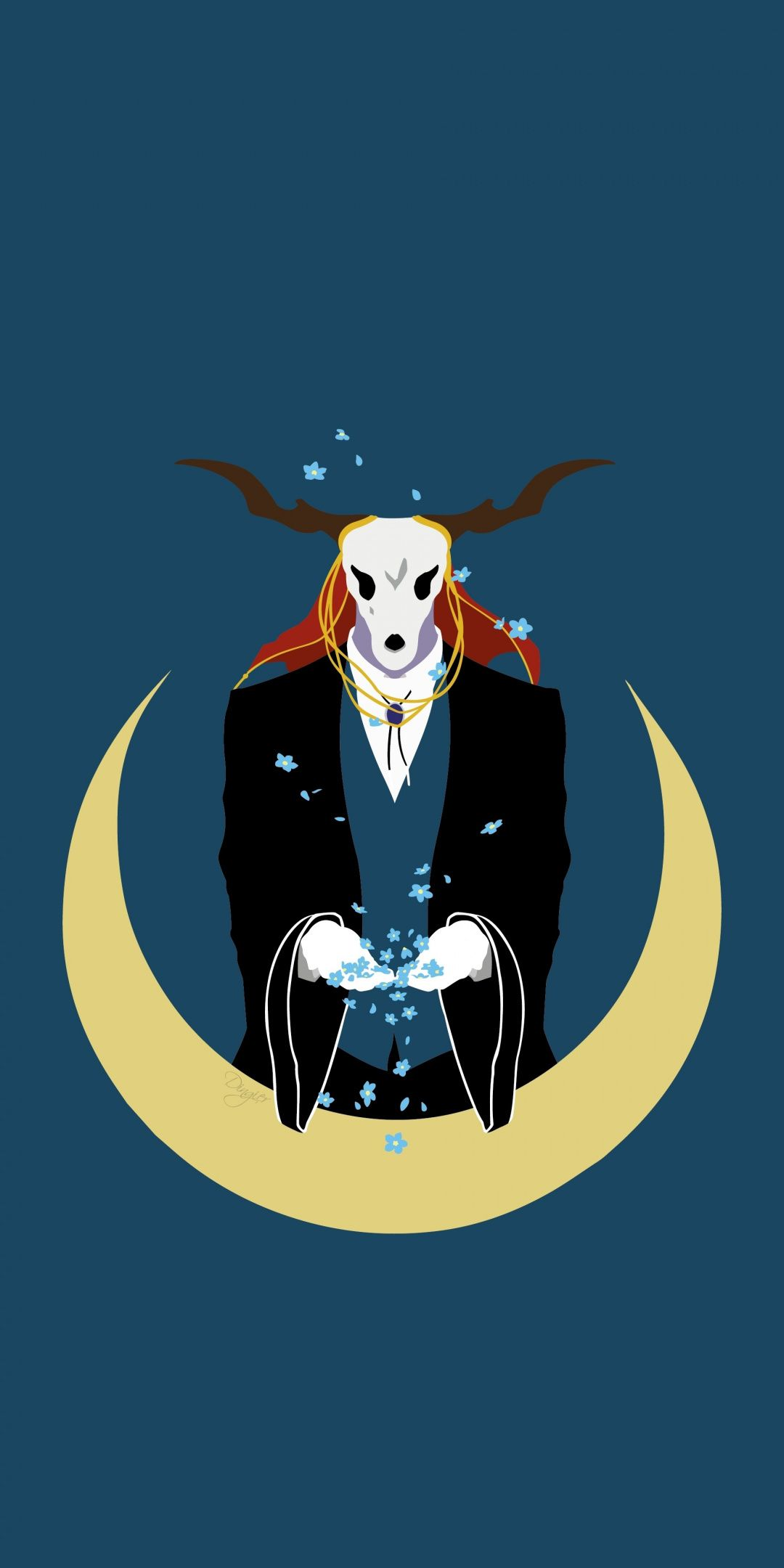 Download 1080x2160 Wallpaper Minimal Anime Elias Ainsworth Honor