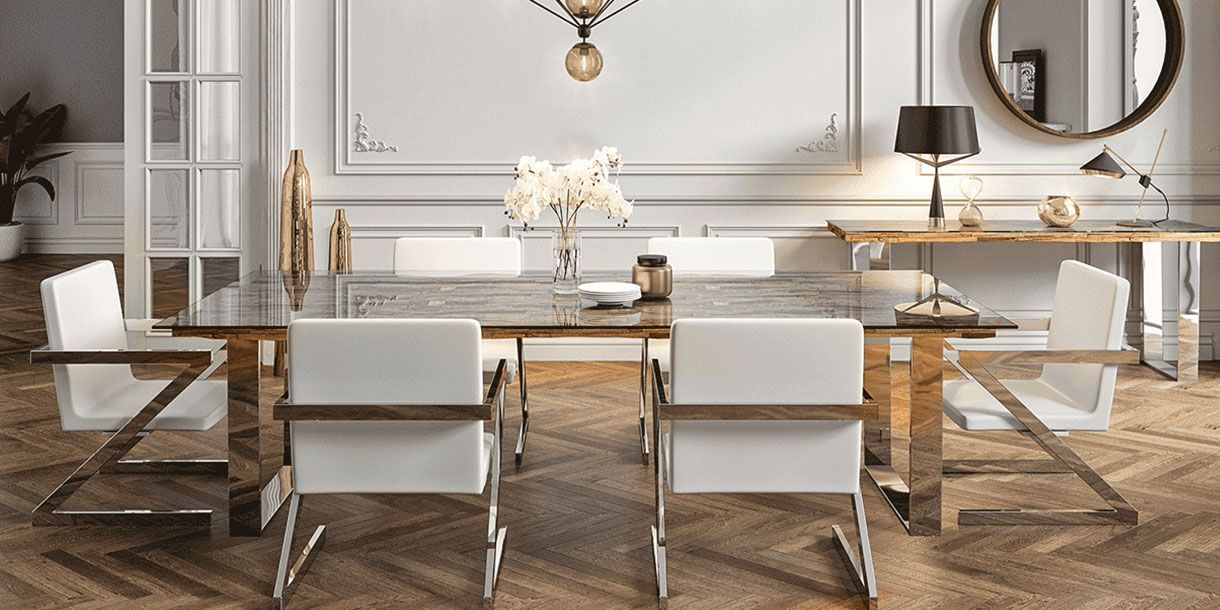 Andara Dining Table Large White Dining Chairs Dining Table Dining