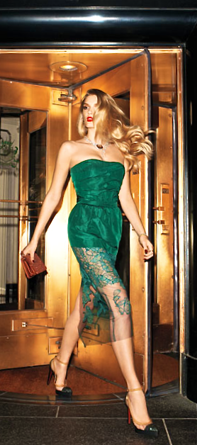 Vera Wang Collection - sexy green cocktail dress