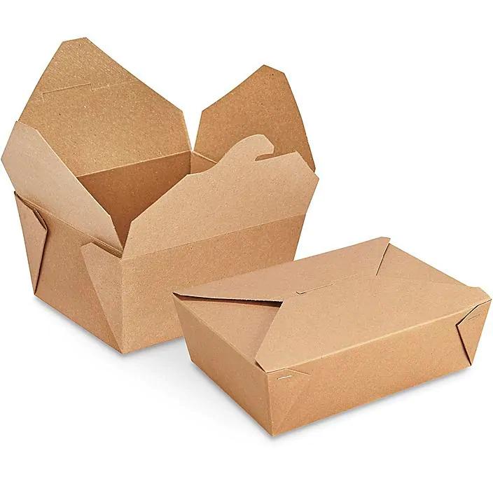 Contenedores De Papel Para Alimentos Cajas De Papel Para Comida Para Llevar En Existencia Uline Comida Para Llevar Contenedores De Alimentos Caja De Comida
