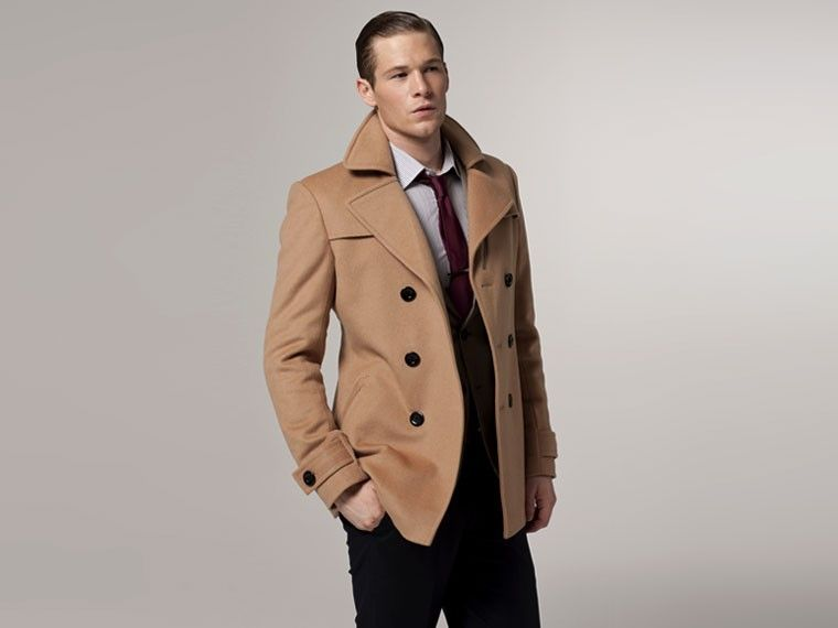 I want to buy Ethan an overcoat. He'd look good in one. Not too ...