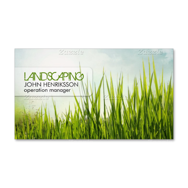 Landscaping Lawn Care Gardener Business Card Branding - Lawn care business card templates