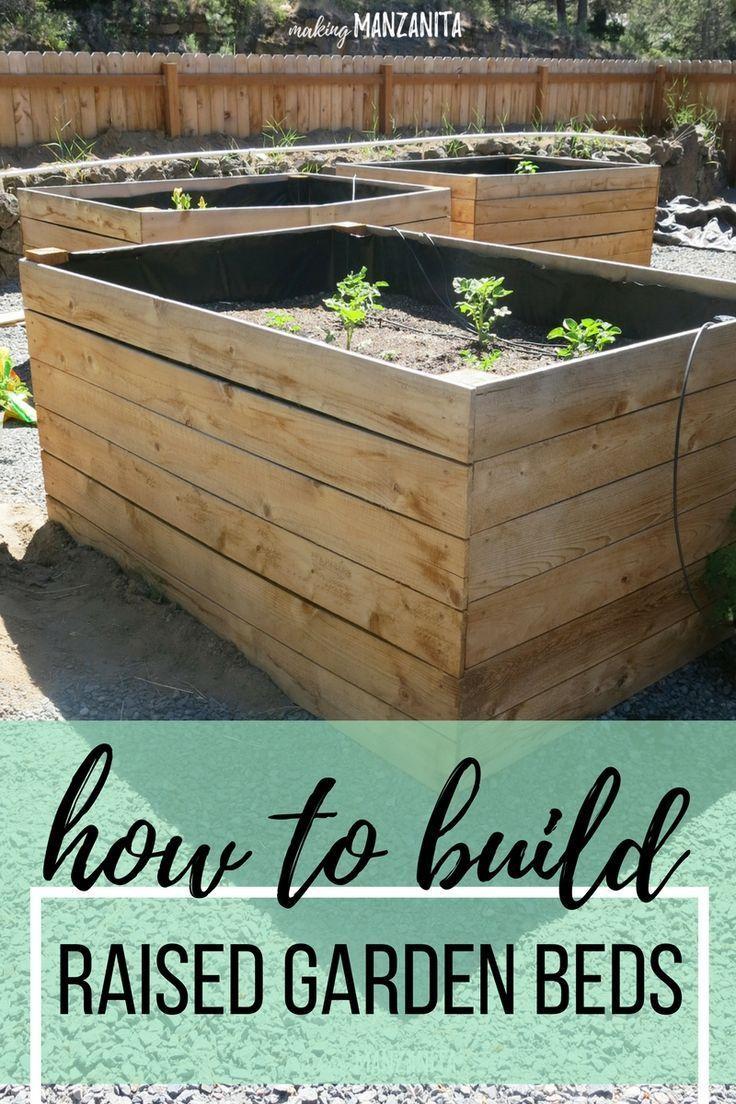DIY Raised Garden Beds Using Cedar Boards | Pinterest | Cedar fence ...