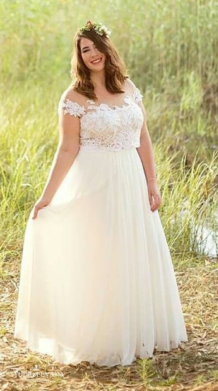 Boho Crop Top Wedding Gown For A Plus Size Bride Studio Levana