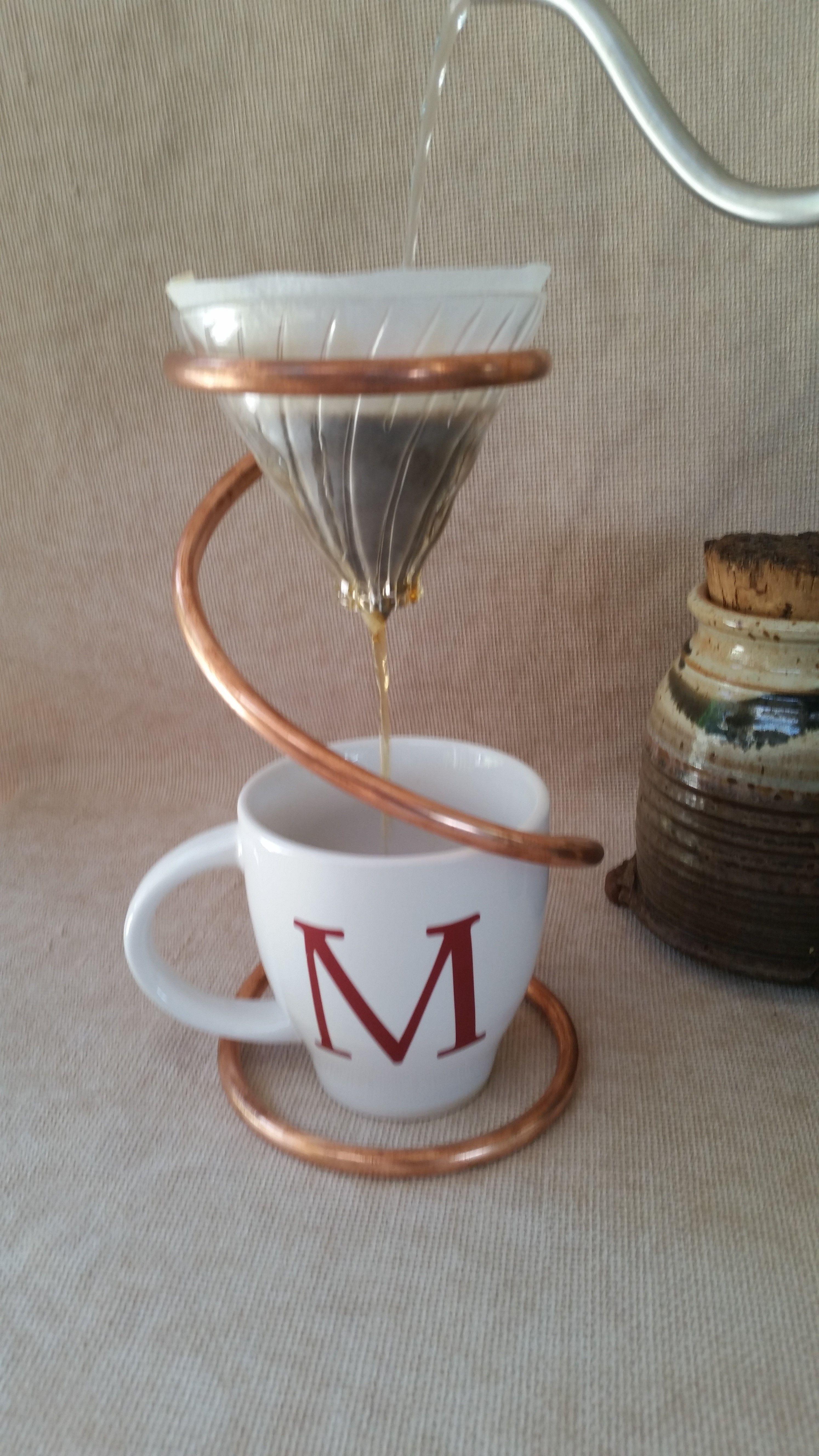 Pour Over Hario V60 Coffee Drip Stand Copper V60 Stand Hario
