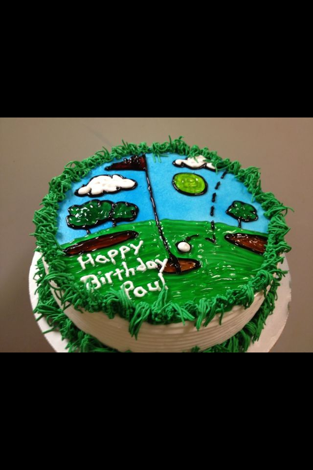 Phenomenal Dairy Queen Cake For Someone Who Loves Golf And Ice Cream Cake Funny Birthday Cards Online Fluifree Goldxyz