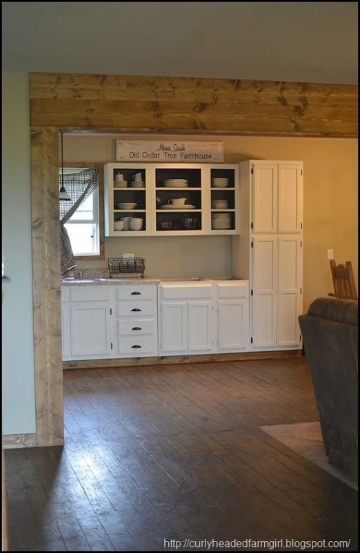 plywood floors, white cabinets | Projects for house ...