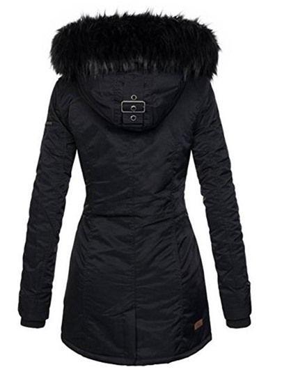 für die ganze Familie zarte Farben konkurrenzfähiger Preis Damen Winter Jacke Mantel Parka Winterjacke Mit Fellkapuze ...