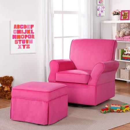 Super cute pink glider and matching ottoman click here to find at ...