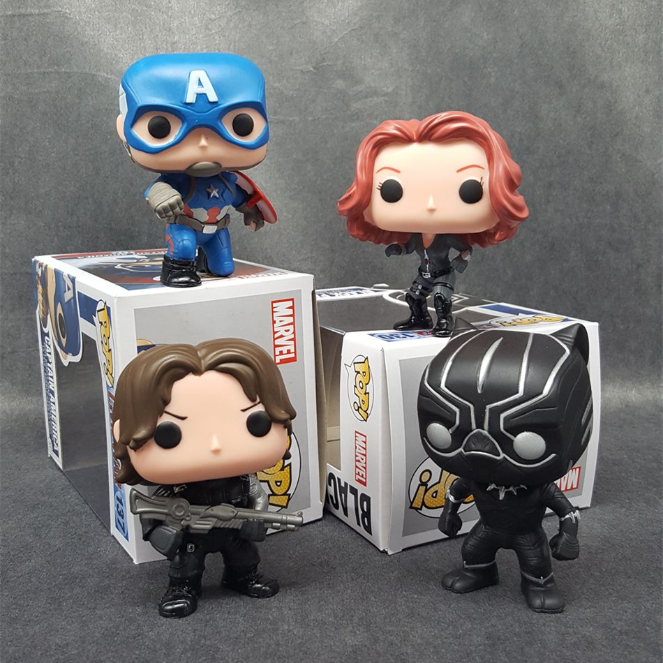 SAINTGI POP Marvel Kaptan Amerika Sivil Superhero PVC 10 CM Action Figure Doll Süper Kahramanlar Koleksiyon Oyuncaklar T487