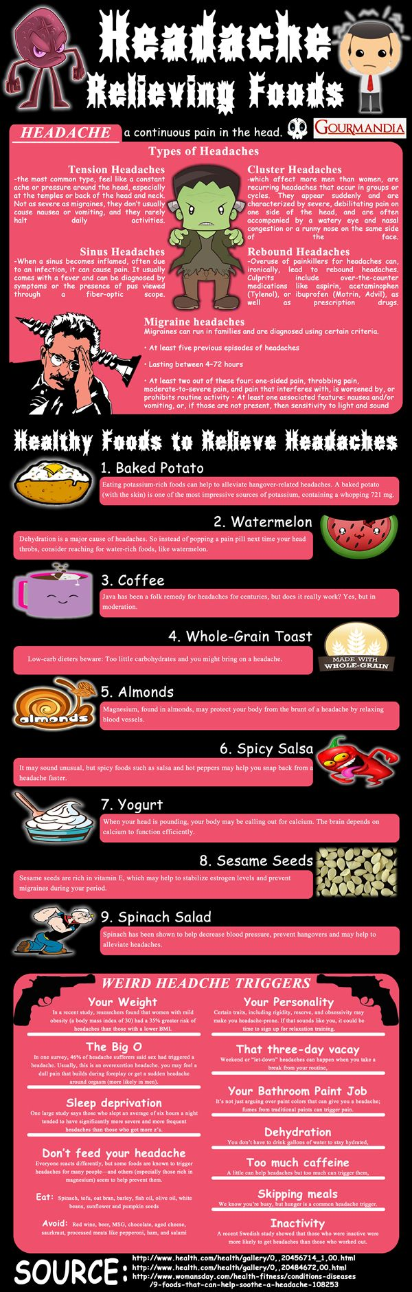 Headache Relieving Foods Visual Ly Headache Remedies Headache Cure Migraine