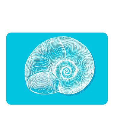 Look at this #zulilyfind! Turquoise Snail Mat #zulilyfinds