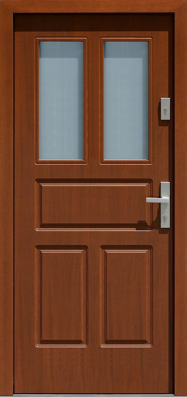 Exterior wooden doors with glass model 533.8 in the color …