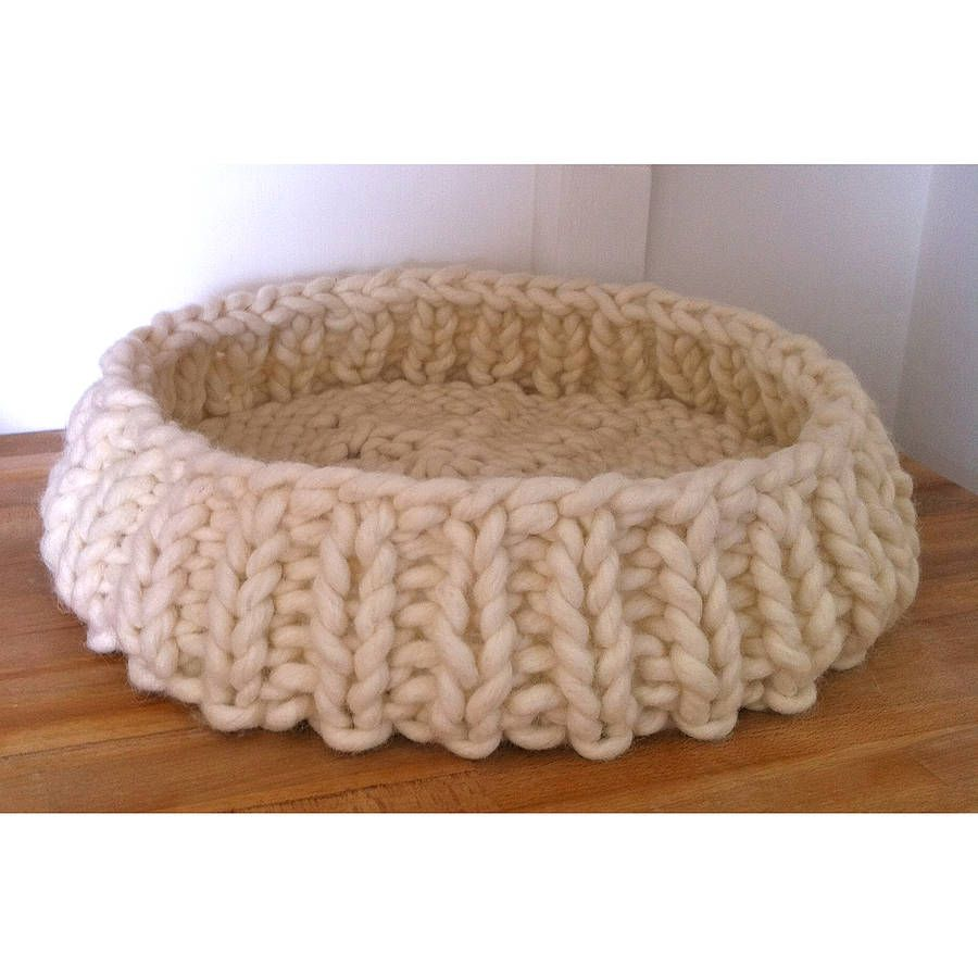 Dog Bed Cat Basket Wool Cat Giant Wool