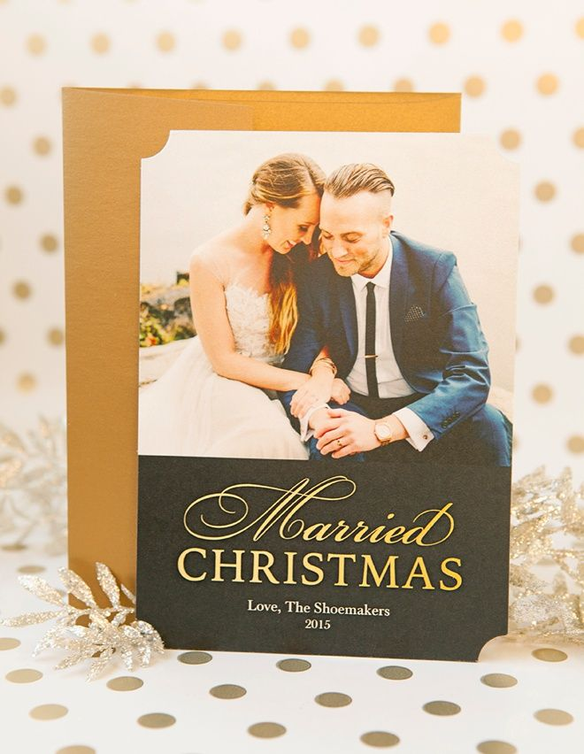 DIY Your Newlywed Holiday Cards With Shutterfly! | Creative wedding ...