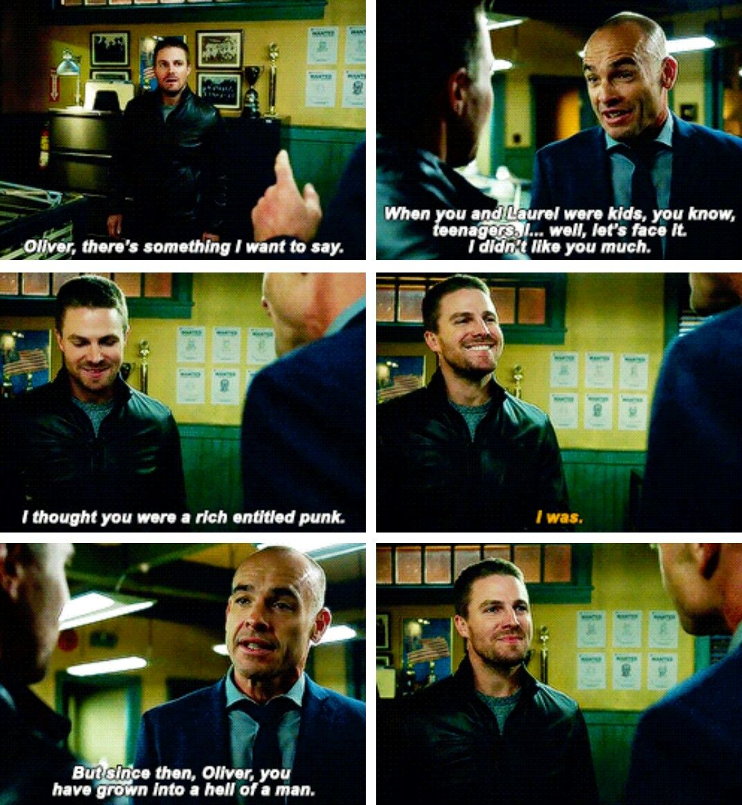 """""""Oliver, you have grown into a hell of a man"""" - Quentin and Oliver #Arrow"""