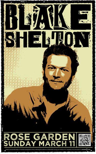 blake shelton music poster gig posters
