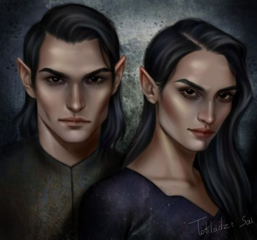 Morgana0anagrom Dagdan And Brannagh From A Court Of Thorns And