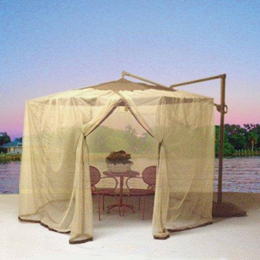 Shade Trends Mosquito Net For Patio Cantilever Umbrella At Lowes