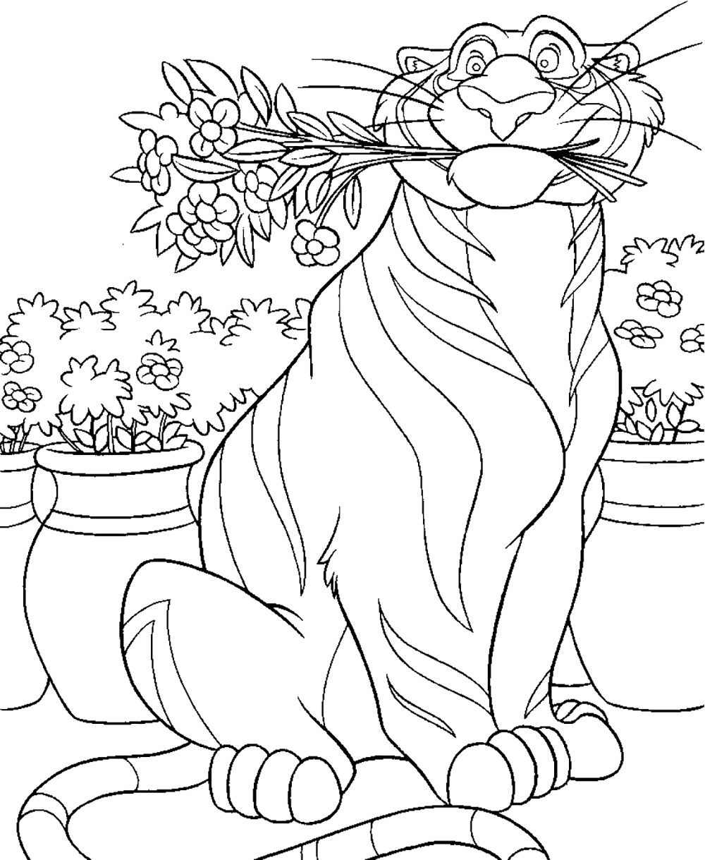 Aladdin Disney Ausmalbilder : Aladdin Rajah Big Aladdin Coloring Pages Pinterest Kids Net