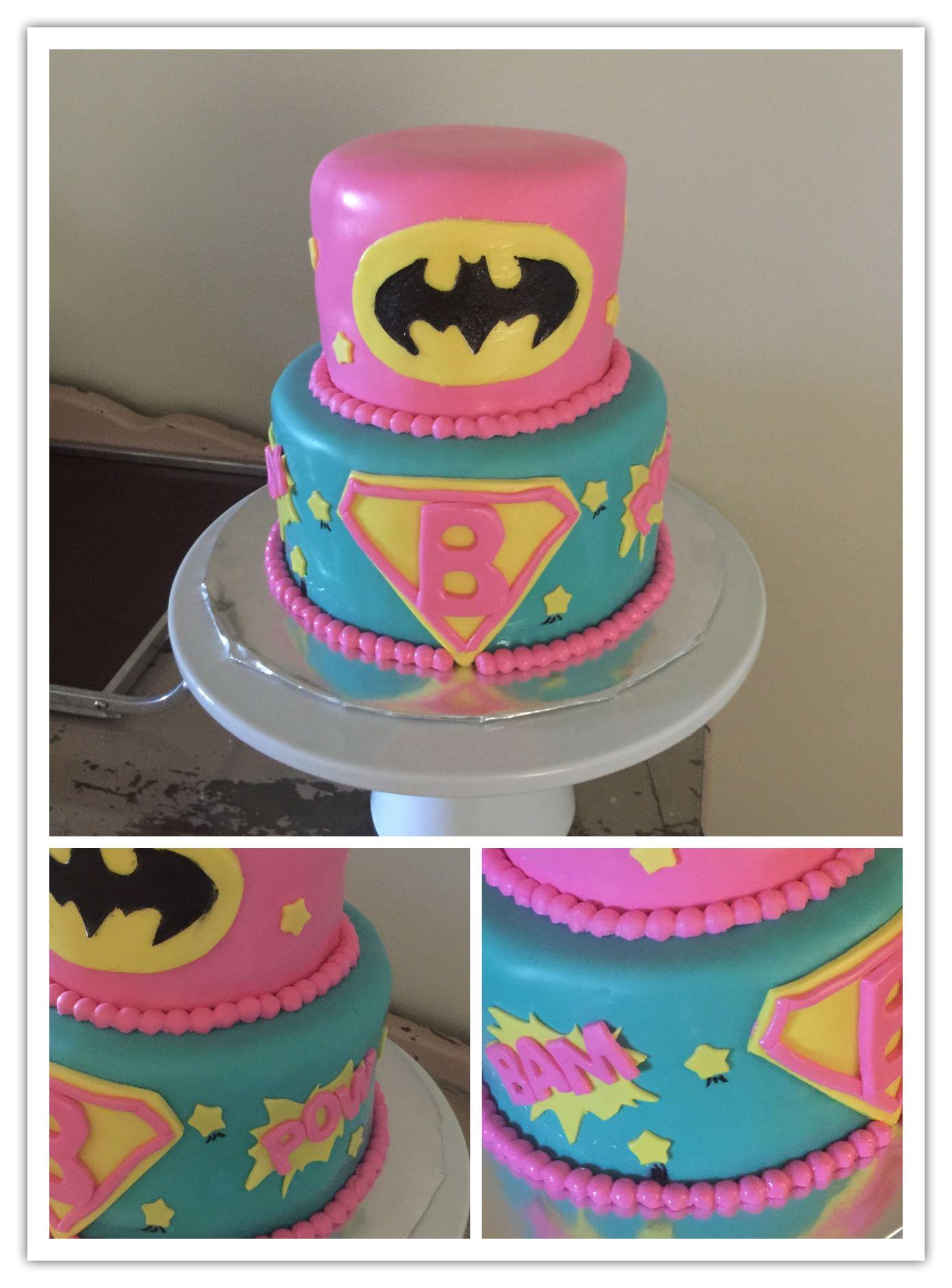 Girl superhero cake