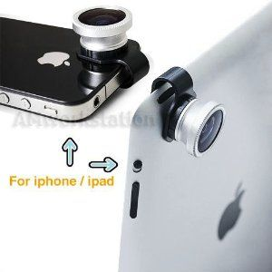 7c223fc63738a9 ... Eye Detachable Clip-on Lens Portable Camera Cover for Apple Iphone 4 4g  4s/5 5th/ipod Touch 4/Touch 5/ipad 2 Ipad 3 ipad Mini: Cell Phones &  Accessories