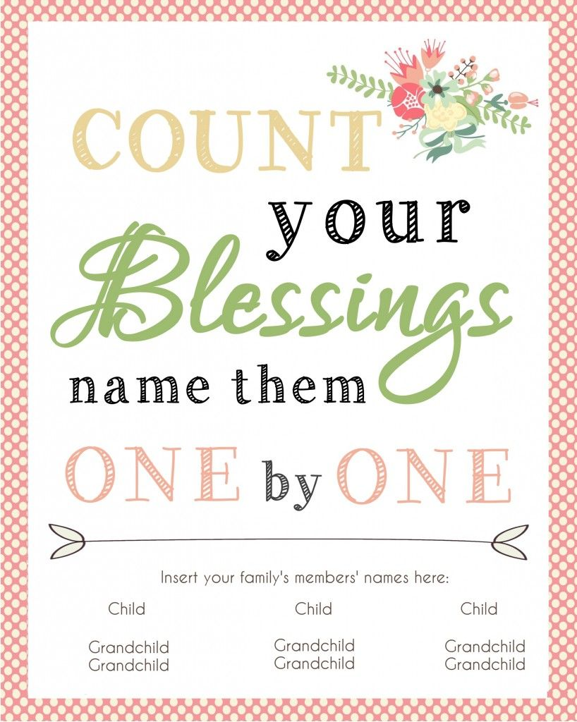 Last minute gift idea for mom or grandma easy gifts blessings count your blessings printable awesome quick and easy gift idea for mom or grandma negle Gallery