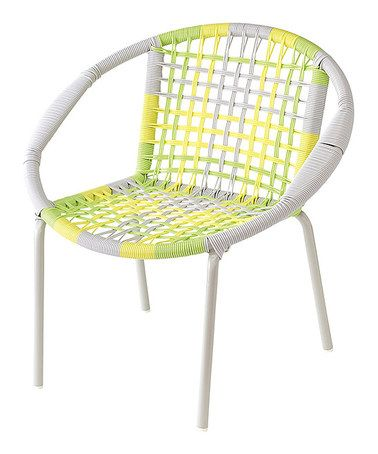 Yellow U0026 Gray Kids Round Chair #zulilyfinds