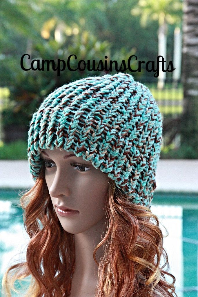 4c991e15ff7 BLUE knit HAT