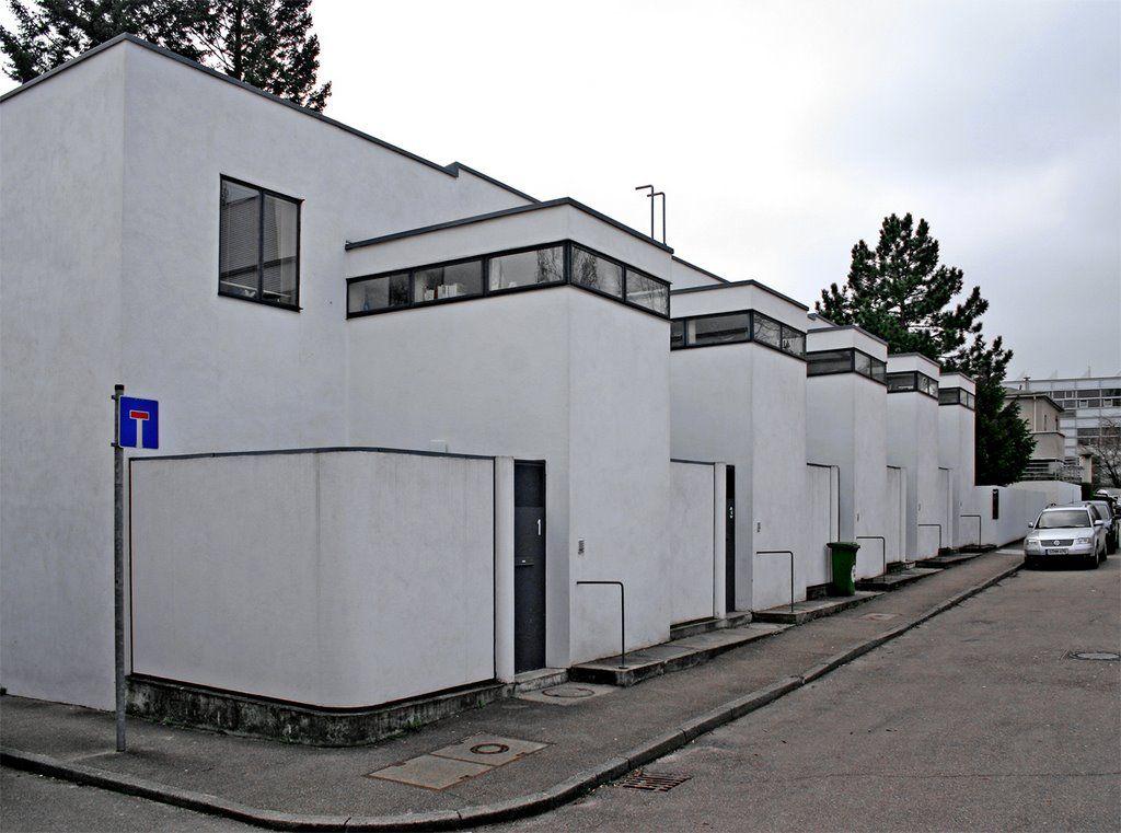 maisons 1927 weissenhofsiedlung stuttgart architecte jjp oud architecture art d co et. Black Bedroom Furniture Sets. Home Design Ideas