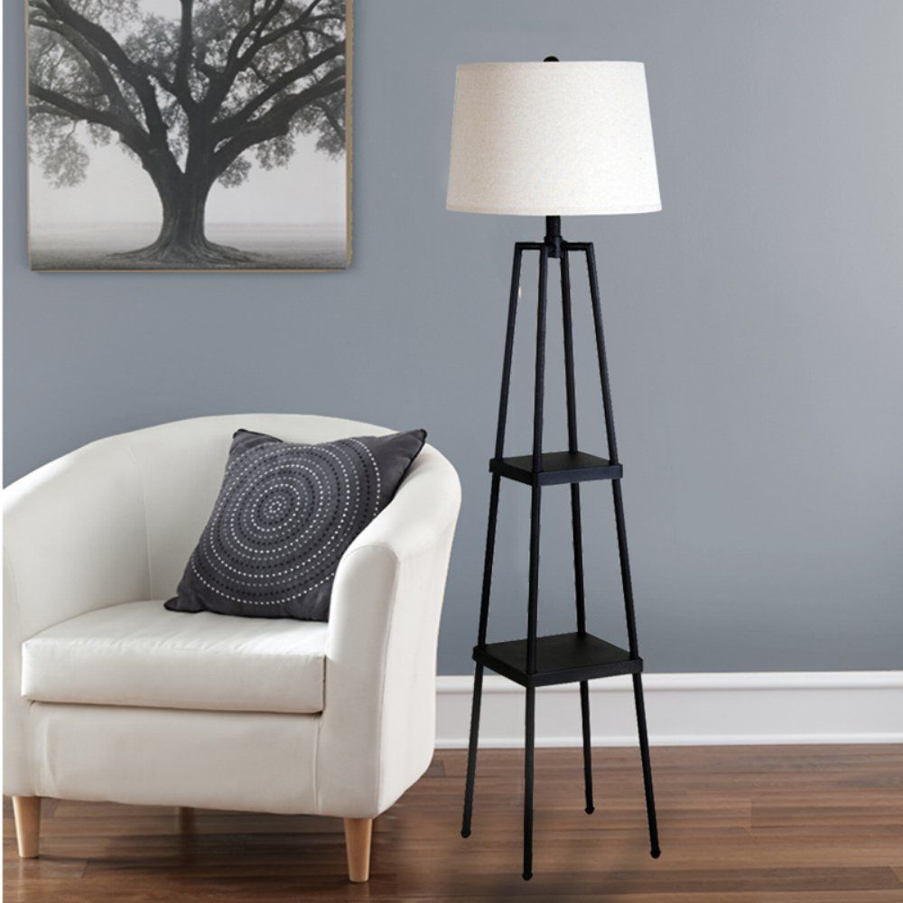 Catalina Lighting 19305 000 3 Way Switch Floor Lamp Floor Lamp With Shelves Metal Floor Lamps Floor Lamp