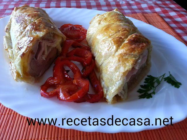 Cocina Fácil Solomillo Relleno Envuelto En Hojaldre Carne Rellena Comida Sin Carne Comida