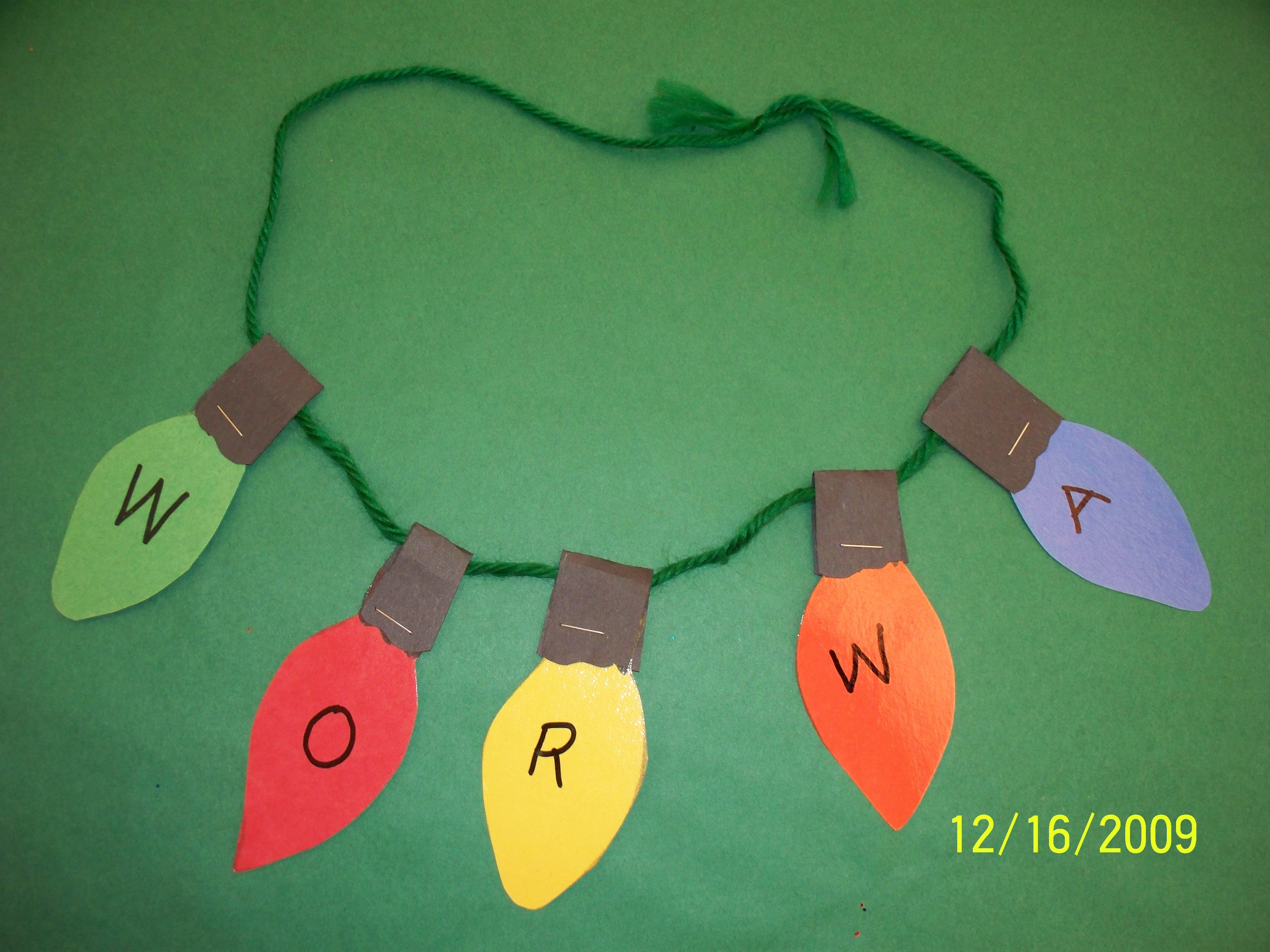 Light Bulb Name Necklace Student Can Lace A Necklace By