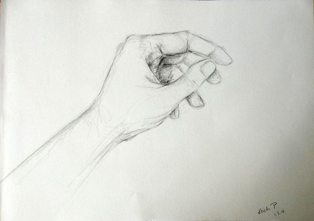 Hand, pencil, study, artist Kristýna Pavluvčíková.