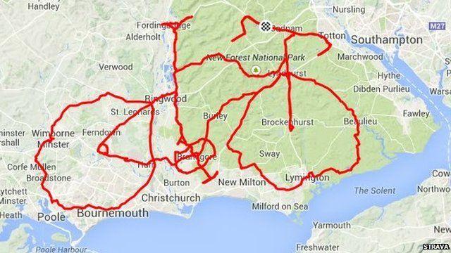Giant Bike Appears On New Forest Map Met Afbeeldingen