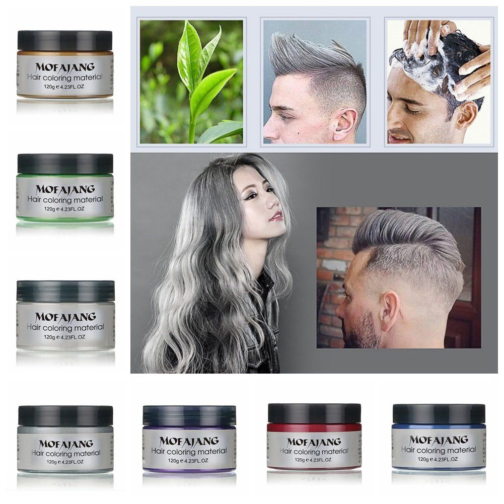 Ochine One Time Molding Paste Hair Style Styling Hair Color Wax Dye Wax 7 Colors You Can Find Out Perfect Hair Color Temporary Hair Dye Hair Color Cream