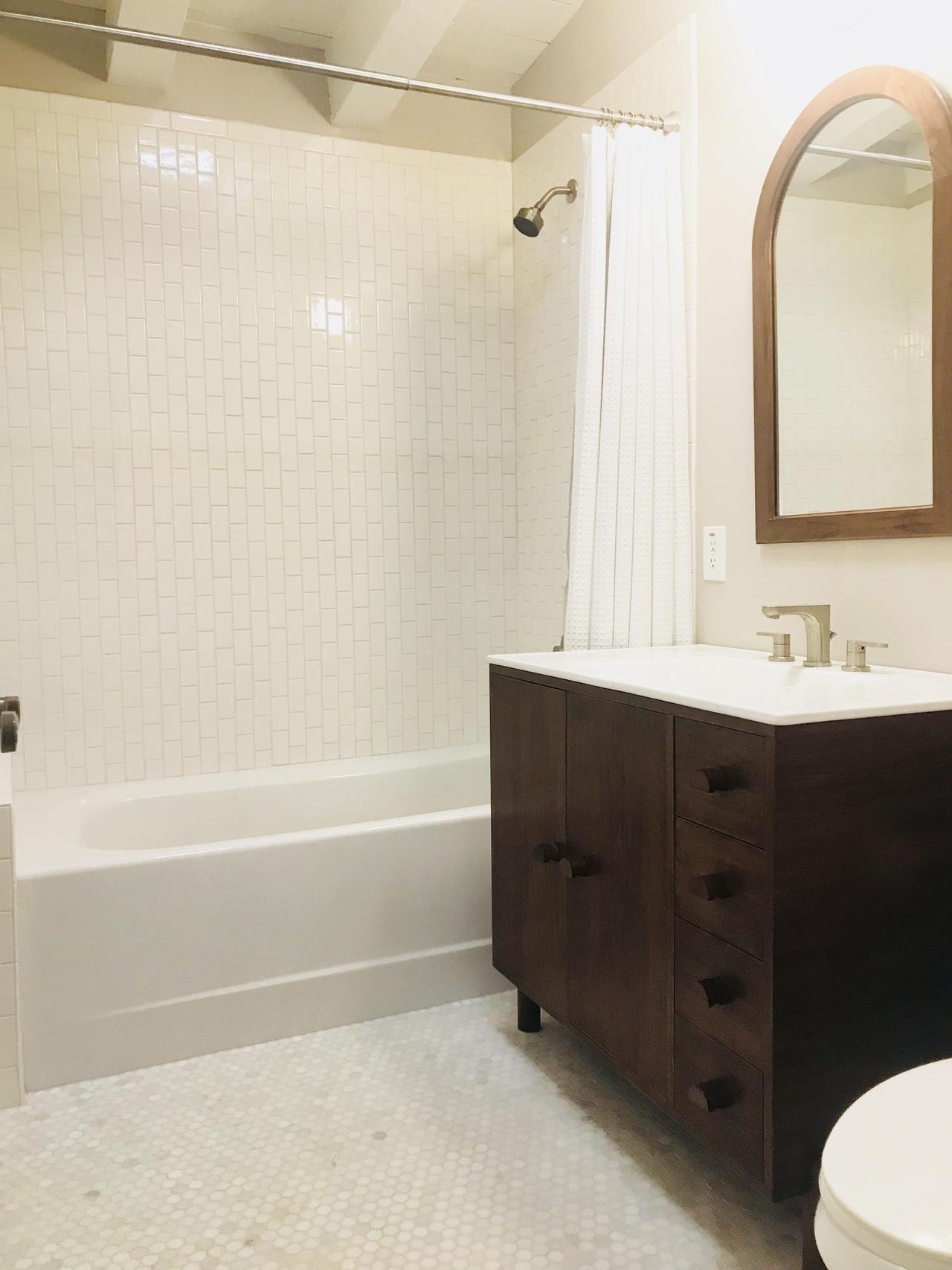 Home Interior Design — Simple Guest Bathroom in 1937 Adobe ...