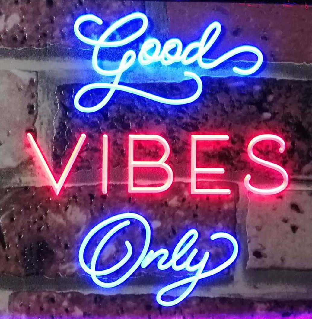 Good Vibes Only Home Bar Disco Room Display Dual Color Led Neon