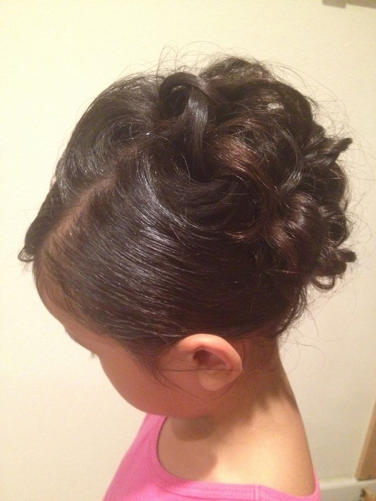 curly little girl updo child