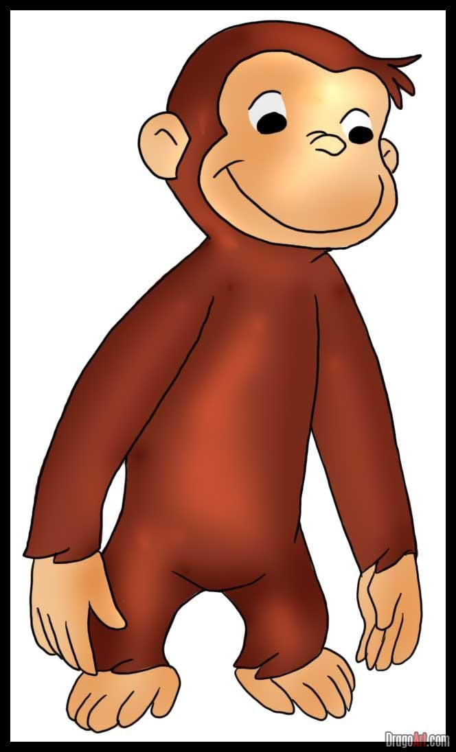 How to Draw Curious George, Step by Step | Kids activities ...