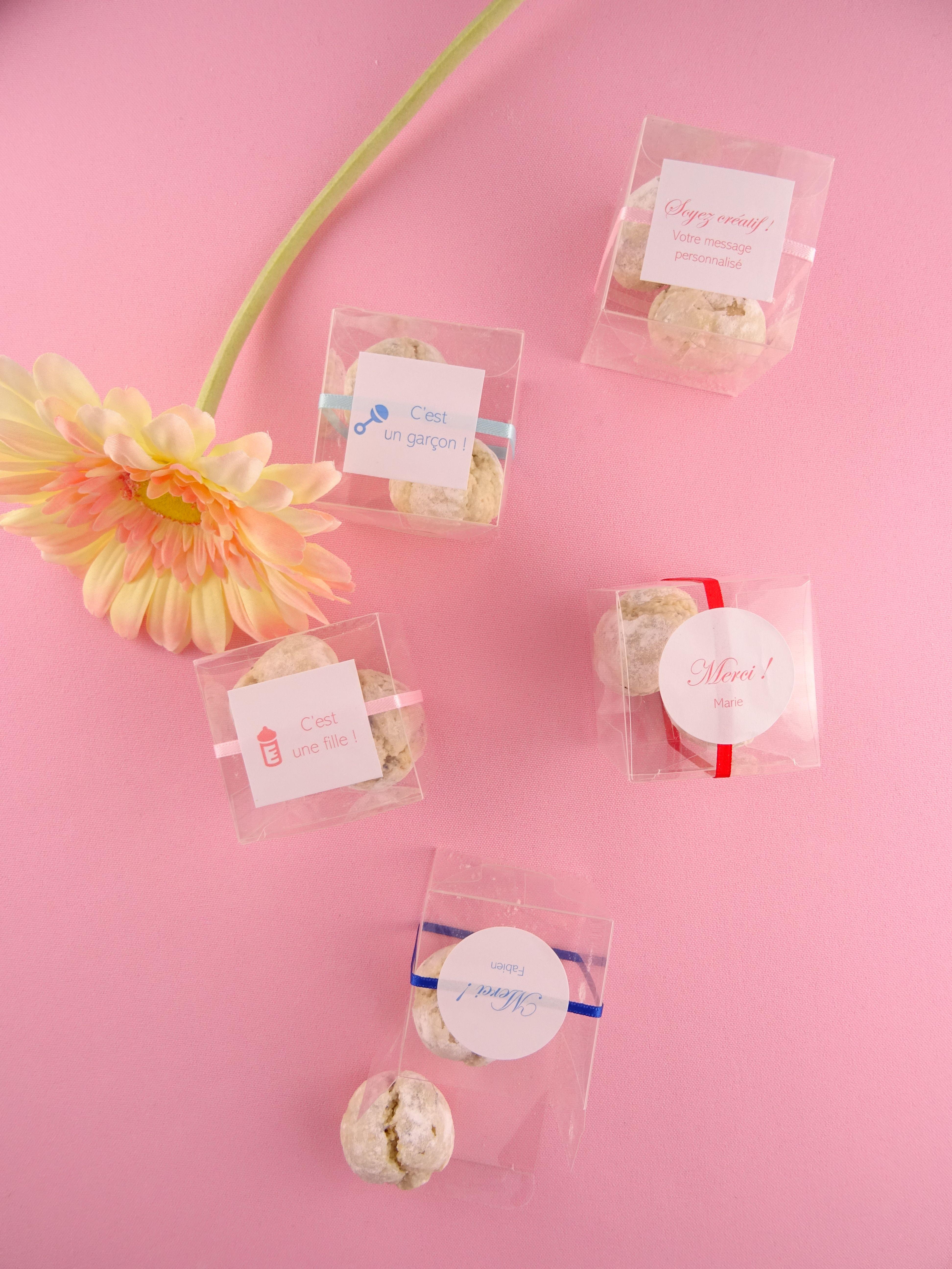 Boite 2 Perles De Fleurs Personnalisable  Cadeau Invit &