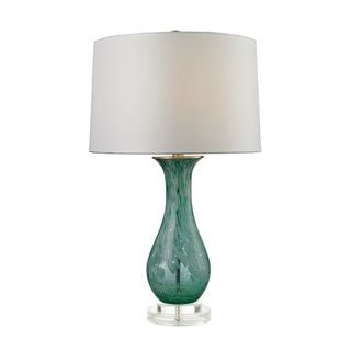 Dimond Swirl Glass Aqua Table Lamp - Free Shipping Today - Overstock.com - 17430386 - Mobile