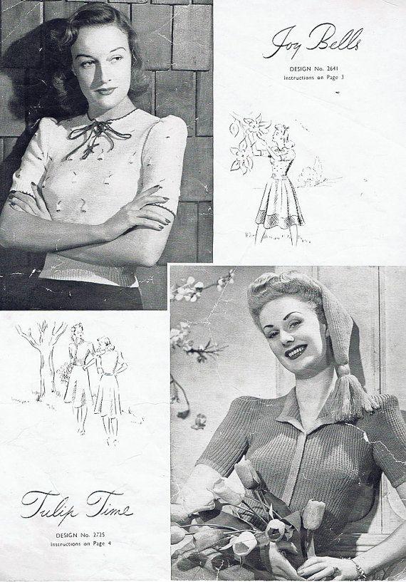Multiple Patterns Entire Booklet 1940s Pdf Vintage Knitting Etsy Vintage Knitting Vintage Knitting Patterns Knitting