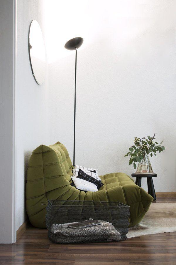Unser Togo in grünem Samt SoLebIchde Foto Talitha Bainbridge - Wohnzimmer Design Grun